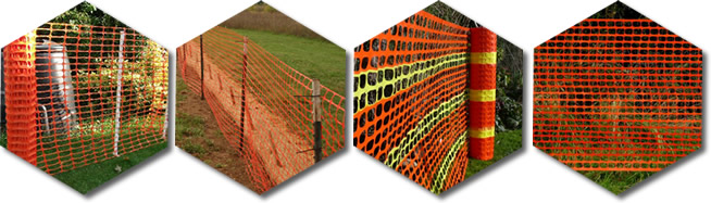Plastic snow fences are widely used as barrier to protect the garden, horticulture