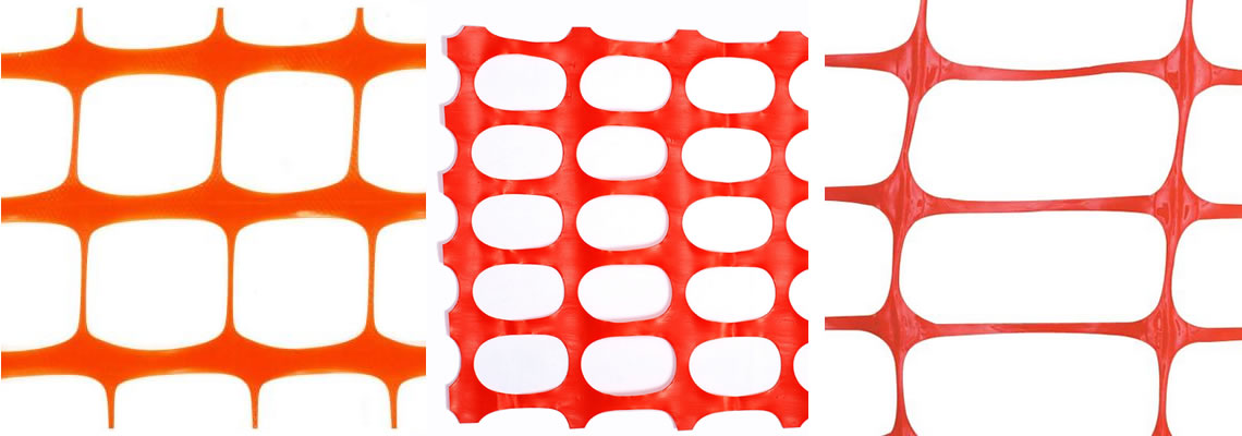 Plastic snow fence SB, BR, SR mesh pattern in orange