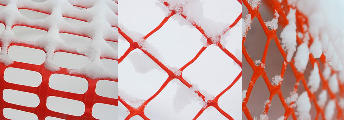The detail of snow fence blocking snow